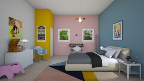 warhol room - Bedroom - by Tabitha Knight