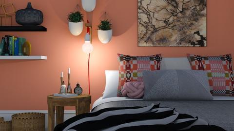 Cozy Rose Bedroom  - Rustic - Bedroom - by HenkRetro1960