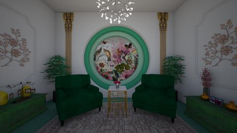 circular divine - Living room - by Kylie Awa