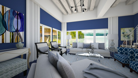 Im blue - Eclectic - Living room - by Lucii