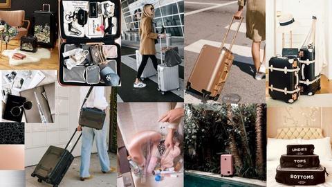 Luxury Luggage Moodboard - by emilynorth72