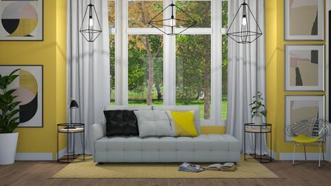 Yellow Baywindow Living - Modern - Living room - by NEVERQUITDESIGNIT