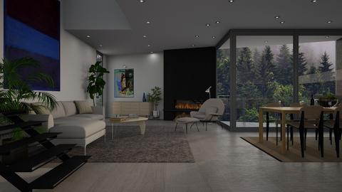 Modern East - Living room - by dwark