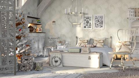 shabby chic bedroom - by bnu