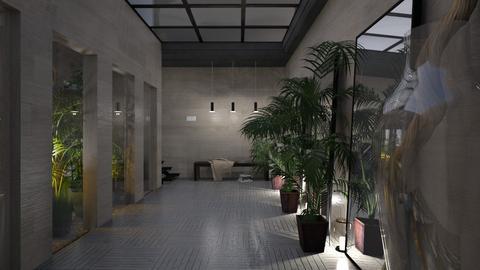 U J hallway - by paradise look