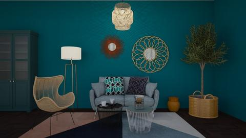 Blue - Living room - by Val Val