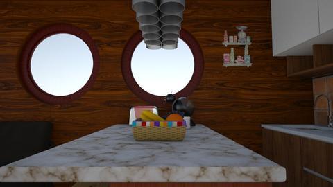 woody wood - Dining room - by Brina Yunio