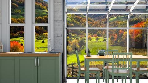 Simple Greenhouse KItchen - Kitchen - by GinnyGranger394