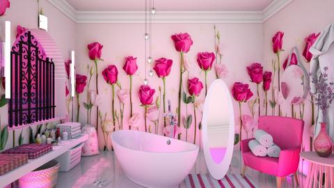 Floral walls - Bathroom - by HebaAdil10