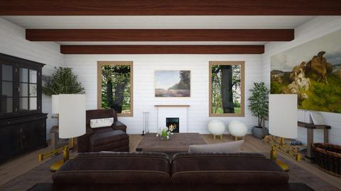 Farmhouse - Living room - by Sarah Anjuli Gailey