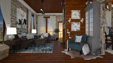 Farmhouse Remix - Living room - by rachaelphillips636