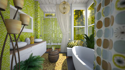 BohoInspired - Rustic - Bathroom - by channing4