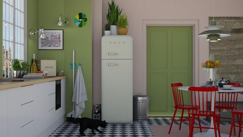 Pink and Green - Modern - Kitchen - by HenkRetro1960