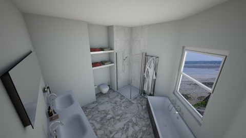 Marble Bathroom - Modern - Bathroom - by Tiannab24
