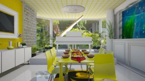 dining melodies - Dining room - by armeen_hedayat