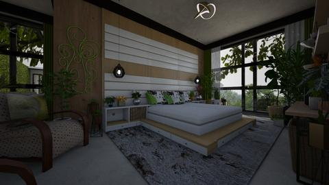 Suite with plants - Bedroom - by Maria Helena_215