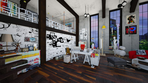 Artists Loft - Eclectic - Office - by evahassing