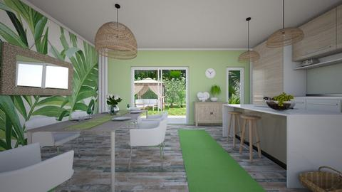 Green vibes new - Kitchen - by evelyn19