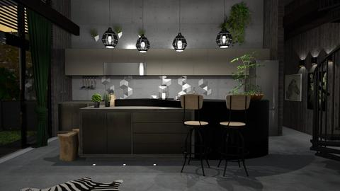 urban jungle kitchen_1 - Kitchen - by elyssaumber