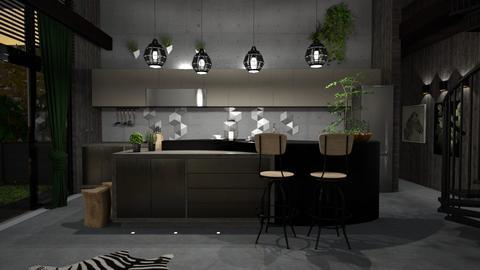 urban jungle kitchen_1 - Kitchen - by elyssaumber