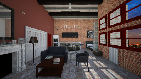 2nd St Loft - Modern - Living room - by Calolynn