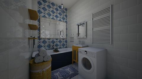 Blue Justine3 - Bathroom - by Marta Perkowska