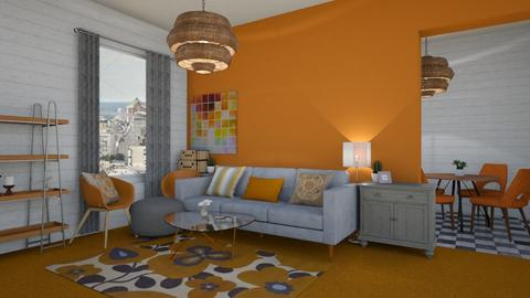 Orange Carpet 2 - Living room - by Loca910