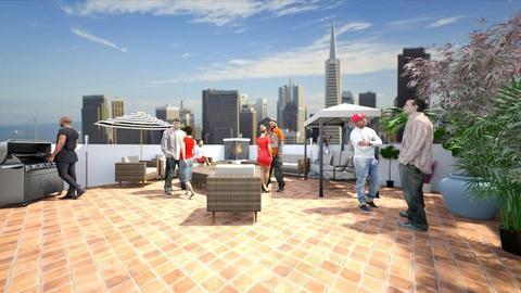Rooftop Deck - Living room - by SammyJPili