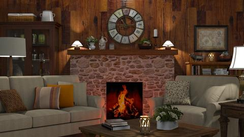 Country Clock - Living room - by GraceKathryn