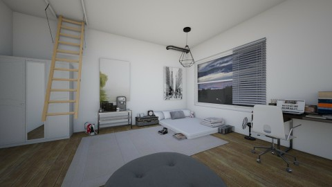 apartment melancholy - Modern - Bedroom - by Liberty Interior