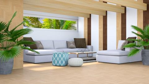 Tropical Wood Stripes - Living room - by millerfam