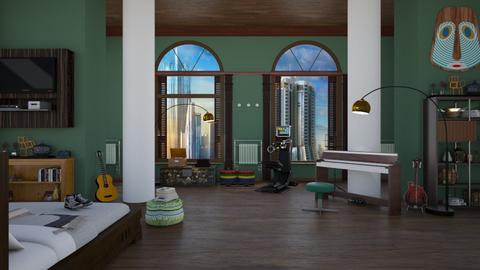 Del Spooner - Eclectic - Bedroom - by Elenn
