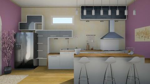 Purple and Beige - Retro - Kitchen - by helenlin06