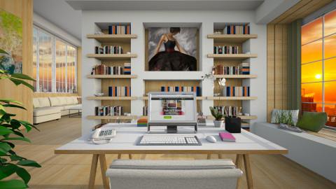 Feminine Office Space - by Nufra