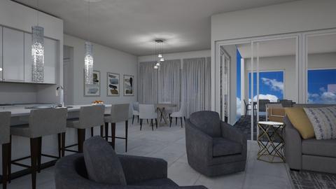 New LR w porch - by Dwellings LLC