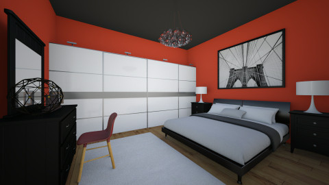 black red and white room - by Ori Ortensa