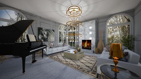 Opulent - Living room - by Valentina Sterleman