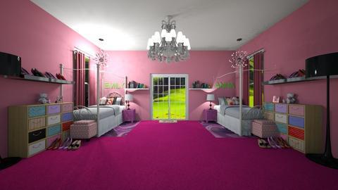 Sister Space - Bedroom - by husky2