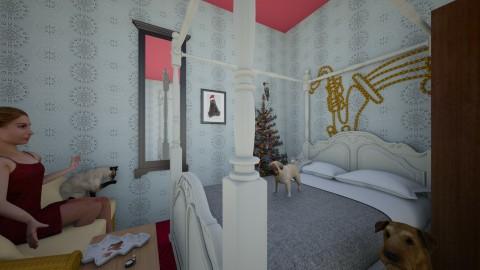 bedroom in chrismas - by eleyiokparas1