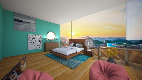 Beach house - Retro - Bedroom - by bleeding star