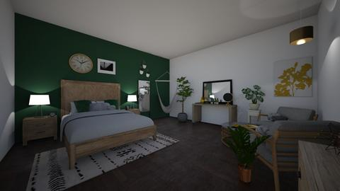Green and Golden - Bedroom - by amybranco