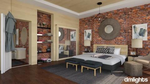 modern bedroom - Bedroom - by rrogers47