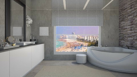 Modern Master Bathroom - Modern - Bathroom - by AshleyLabxtchh