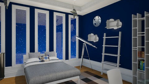 preteen starry night - Kids room - by aerifia