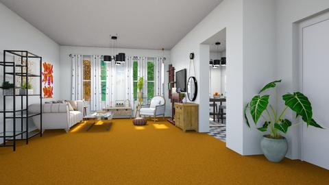 Orange Carpet2 - Living room - by straley123456