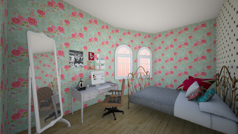 rose room - Vintage - Bedroom - by Thary Imbelloni
