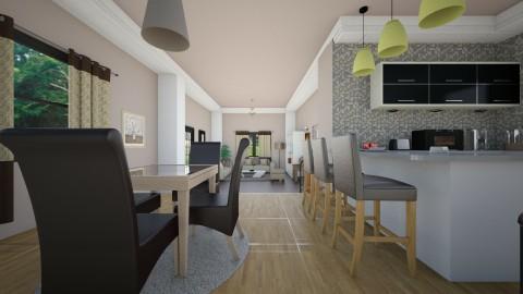 Kitchen l Living  - Modern - Kitchen - by Jhiinyat