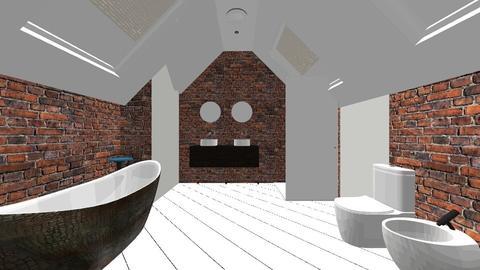 Attic Brick Bathroom - Rustic - Bathroom - by jaiden2006