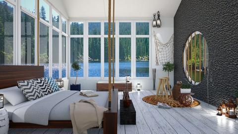 Cozy lake bedroom - Bedroom - by Wildflowers