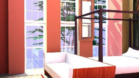 Oriental bedroom - Bedroom - by kiwiwalnut